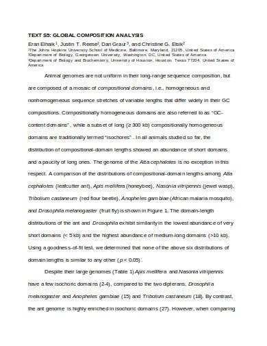 global composition analysis