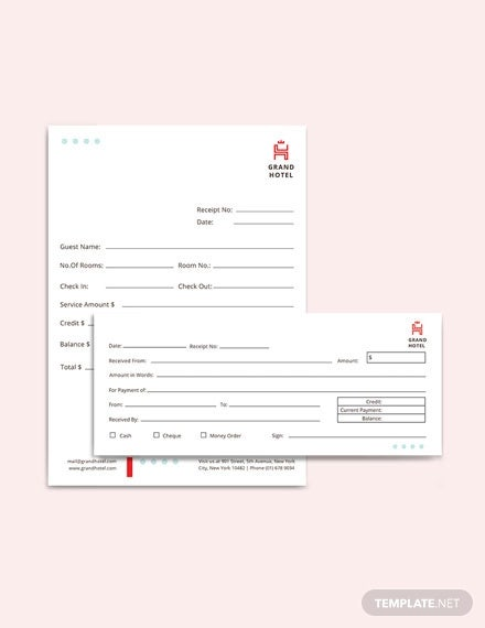 20 Hotel Receipt Templates Pdf Doc Excel Free