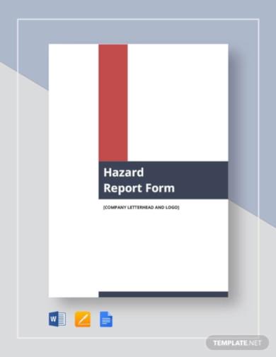 hazard report form template