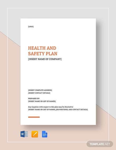 health and safety plan 1