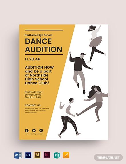 high school audition flyer template