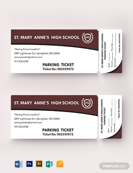 10  school ticket templates