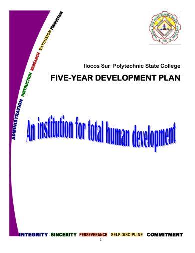 ispsc 5 yr devt plan 01