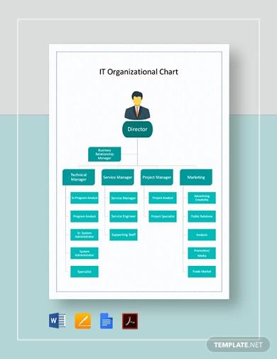 it organizational chart template