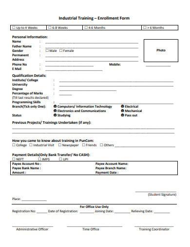 industrial-training-enrollment-form