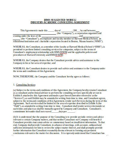 industry academic consulting agreement