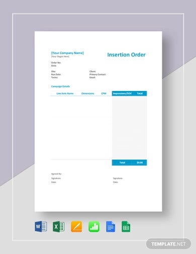 insertion order template2