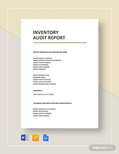 inventory audit report template1