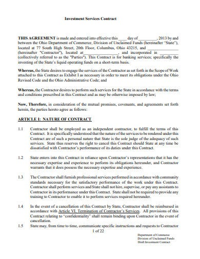 investment service contract
