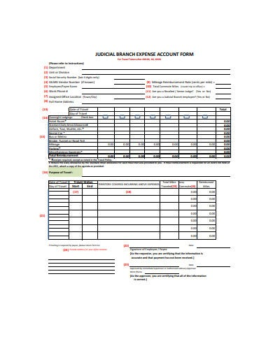 judicial branch expense account form template