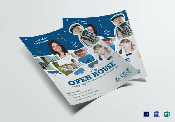 kids open house flyer 8 x 11 in
