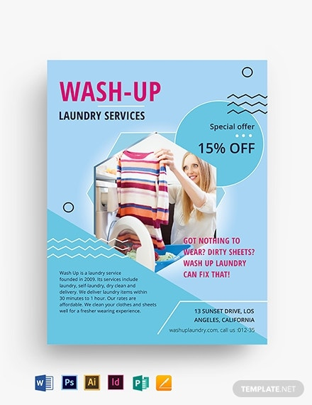 laundry service flyer template 1