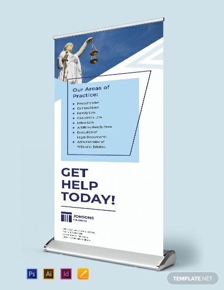 law firm roll up banner template 440x570 1