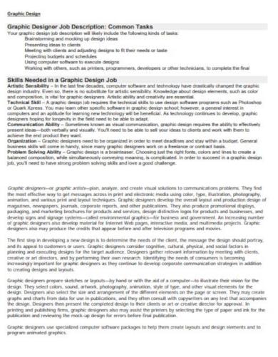 layout graphic designer job description template