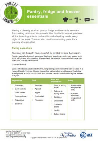 layout grocery checklist template