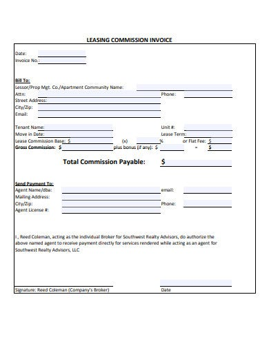leasing-commission-invoice-template