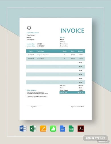 legal consulting invoice template1