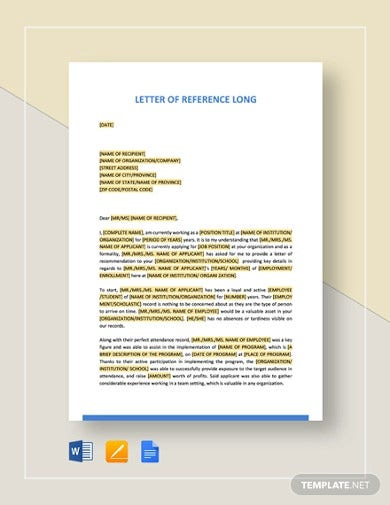letter of reference long template1
