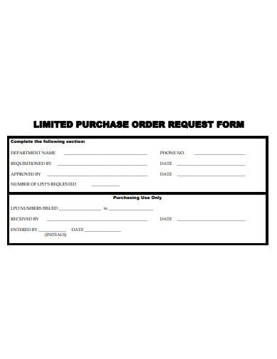 limited-purchase-order-request-form