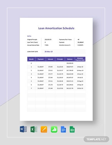 16  loan schedule templates