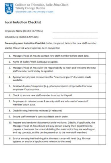 Key Handover Form
