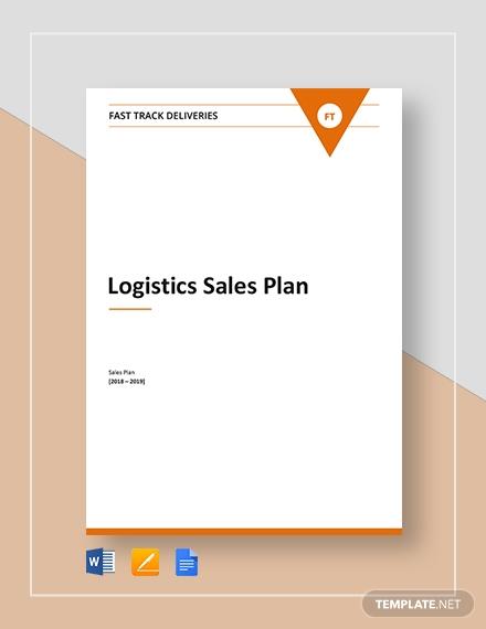 logistics sales plan