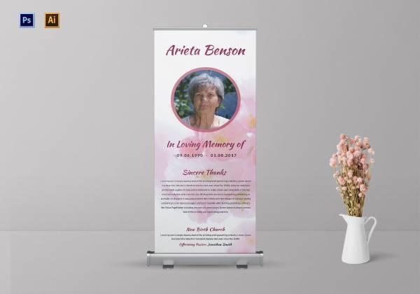 loving memory funeral roll up banner 1