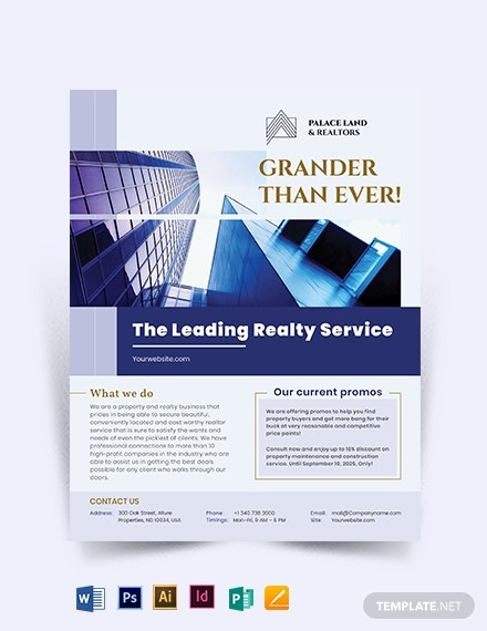 luxury property realtor flyer template