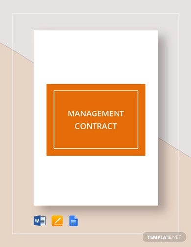 management contract template1