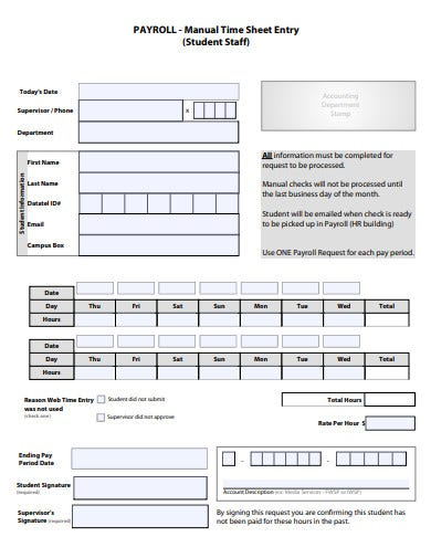 13+ Payroll Sheet Templates - Google Docs, Word, Pages