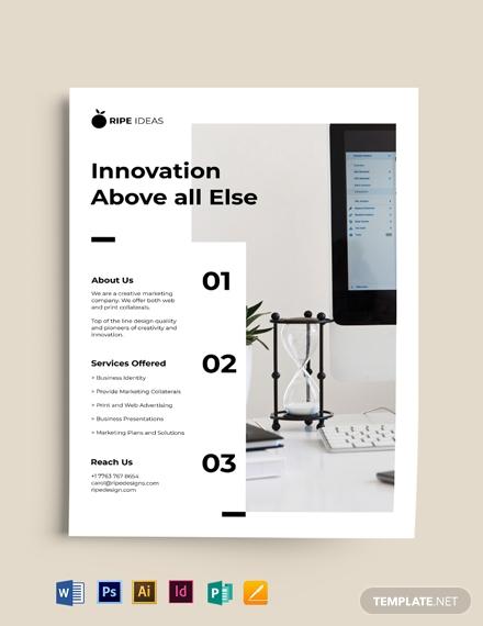 minimal corporate flyer template1