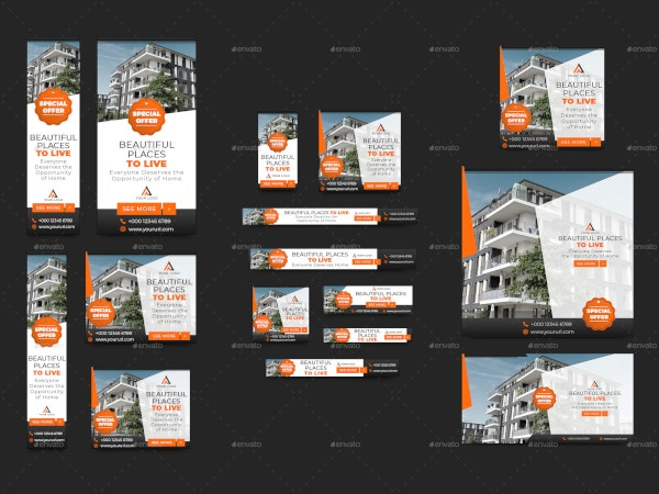 minimalist real estate banner template