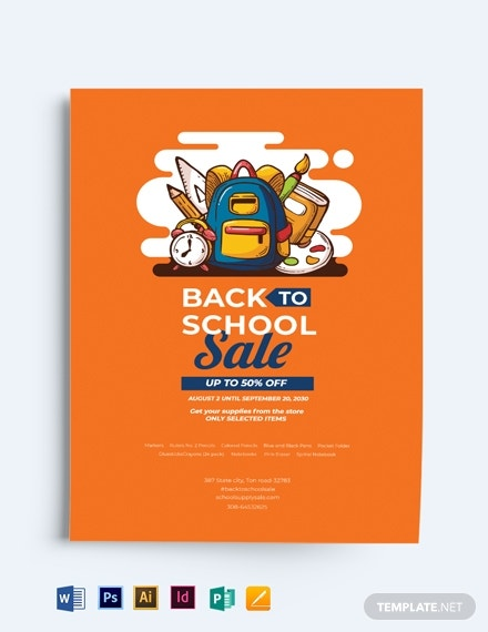 modern back to school flyer template