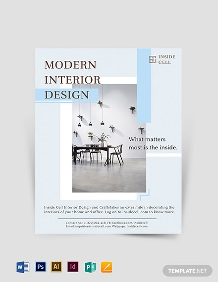 modern interior design flyer template 1