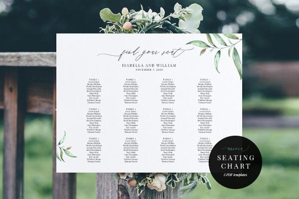 modern wedding seating chart