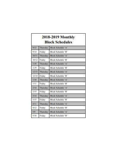 20  monthly schedule templates