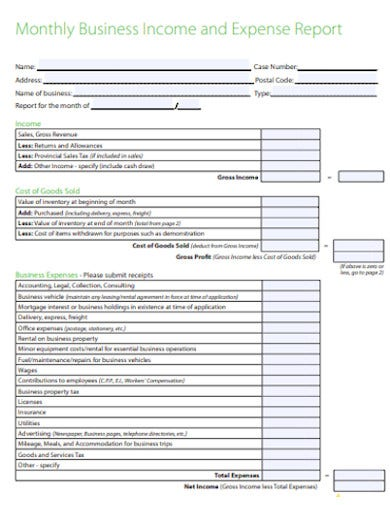 14  business expense report templates in google docs