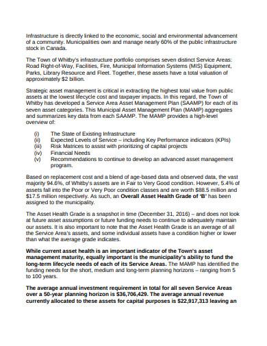 municipal asset plan