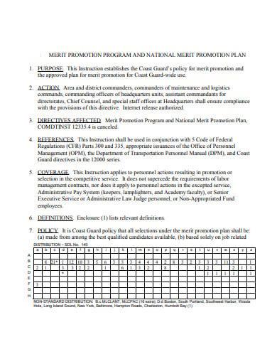 national merit promotion plan