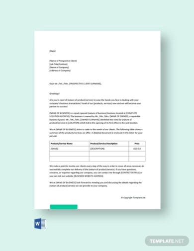 new business promotion letter