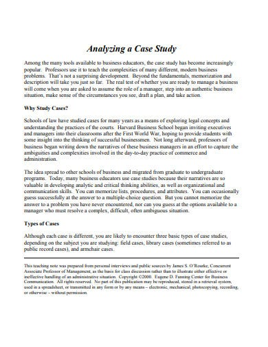 new case study analysis template