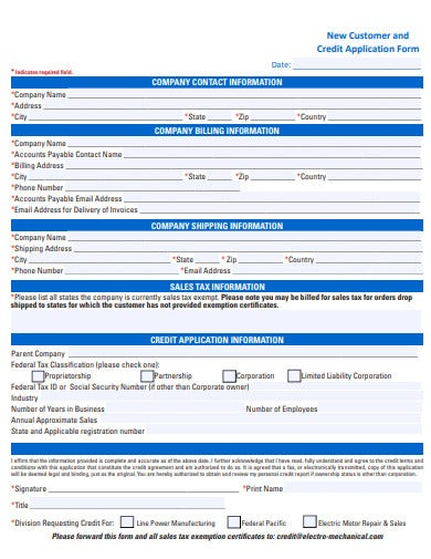 New-Customer-Credit-Application-Form-Template Job Application Form To Fill Out on send an email, funny job, animated graphics,