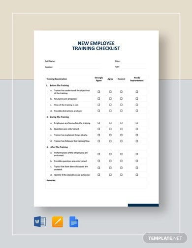new employee training checklist template1