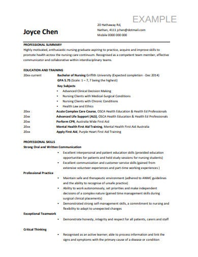 14+ Nurse Resume Templates in Word | Pages | PSD | PDF ...