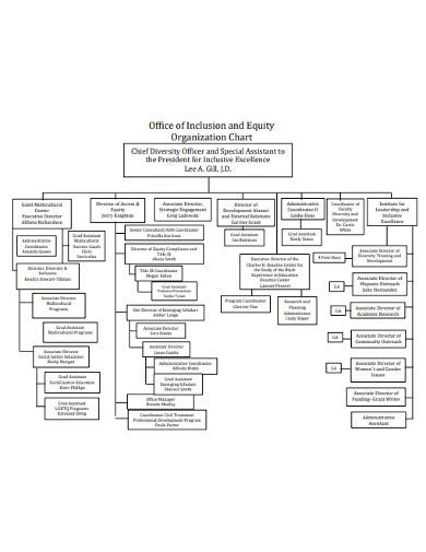office organizational chart format in pdf