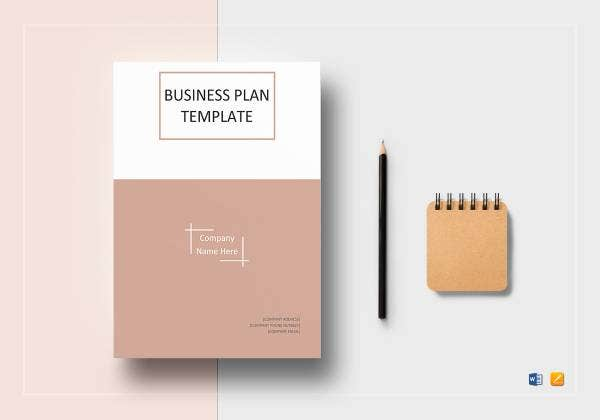 one page business plan template mockup 1