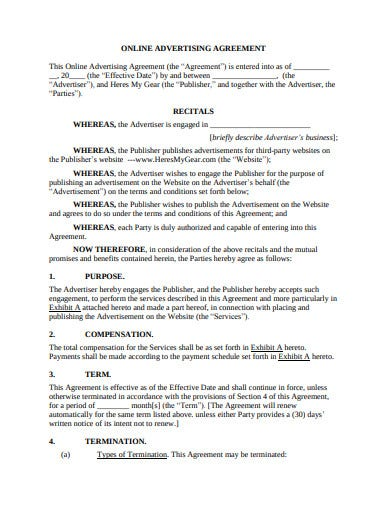 online advertising agreement template