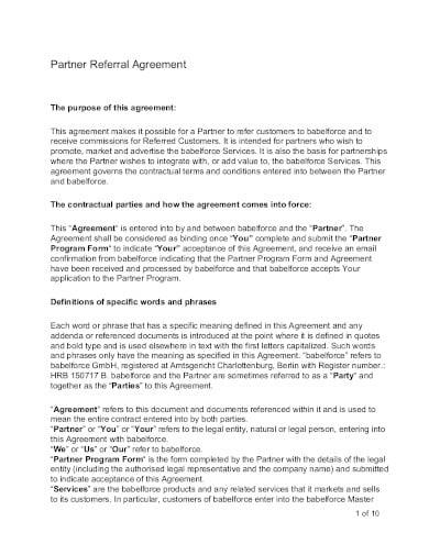 partner referral agreement template