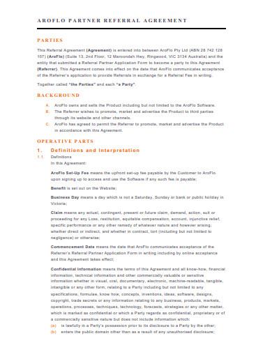 partner referral agreement in pdf