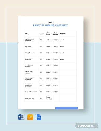 party planning checklist template1